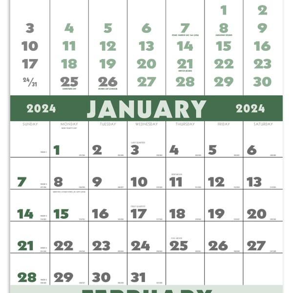 2020 3-Month Planner (12 Sheet)