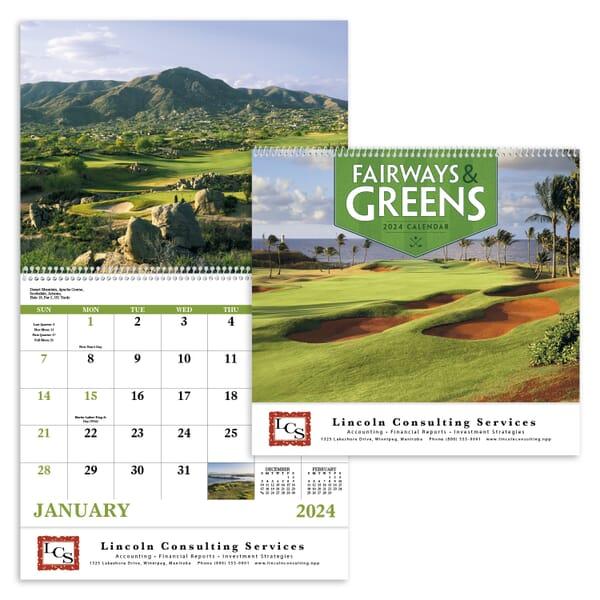 2021 Fairways & Greens - Spiral Calendar