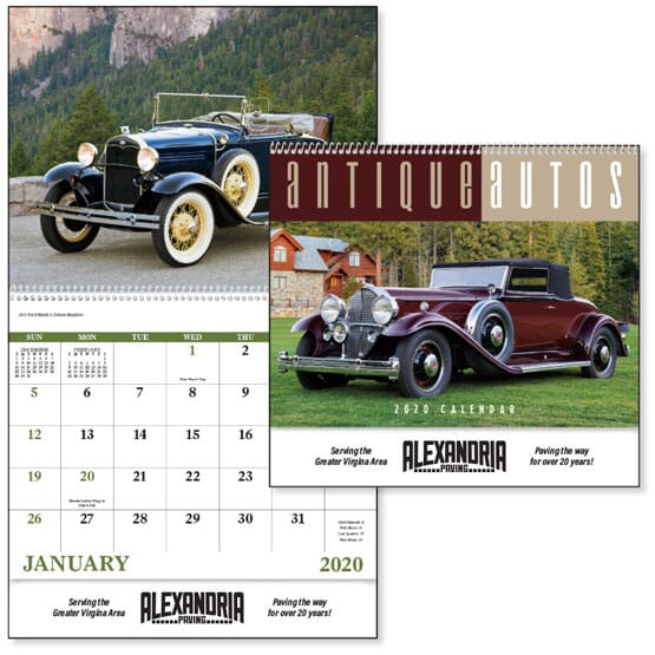 2021 Antique Autos - Spiral Calendar