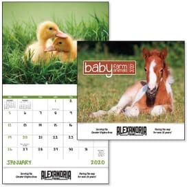 2021 Baby Farm Animals - Stapled Calendar