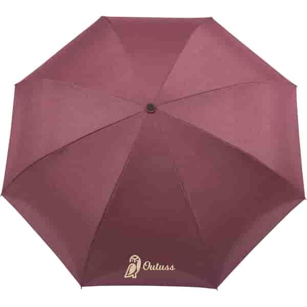 "48"" Auto Close Heathered Inversion Umbrella"