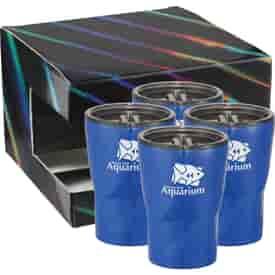 12 oz Glacier Tumbler 4 in 1 Gift Set
