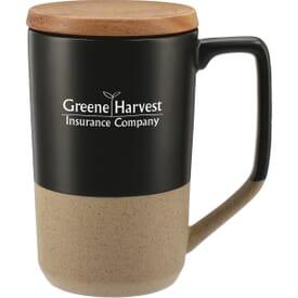 16 oz Tahoe Ceramic Mug with Wood Lid