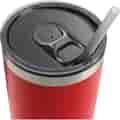 Tumbler lid with straw