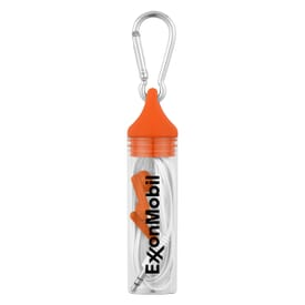 Earbuds In Case With Carabiner