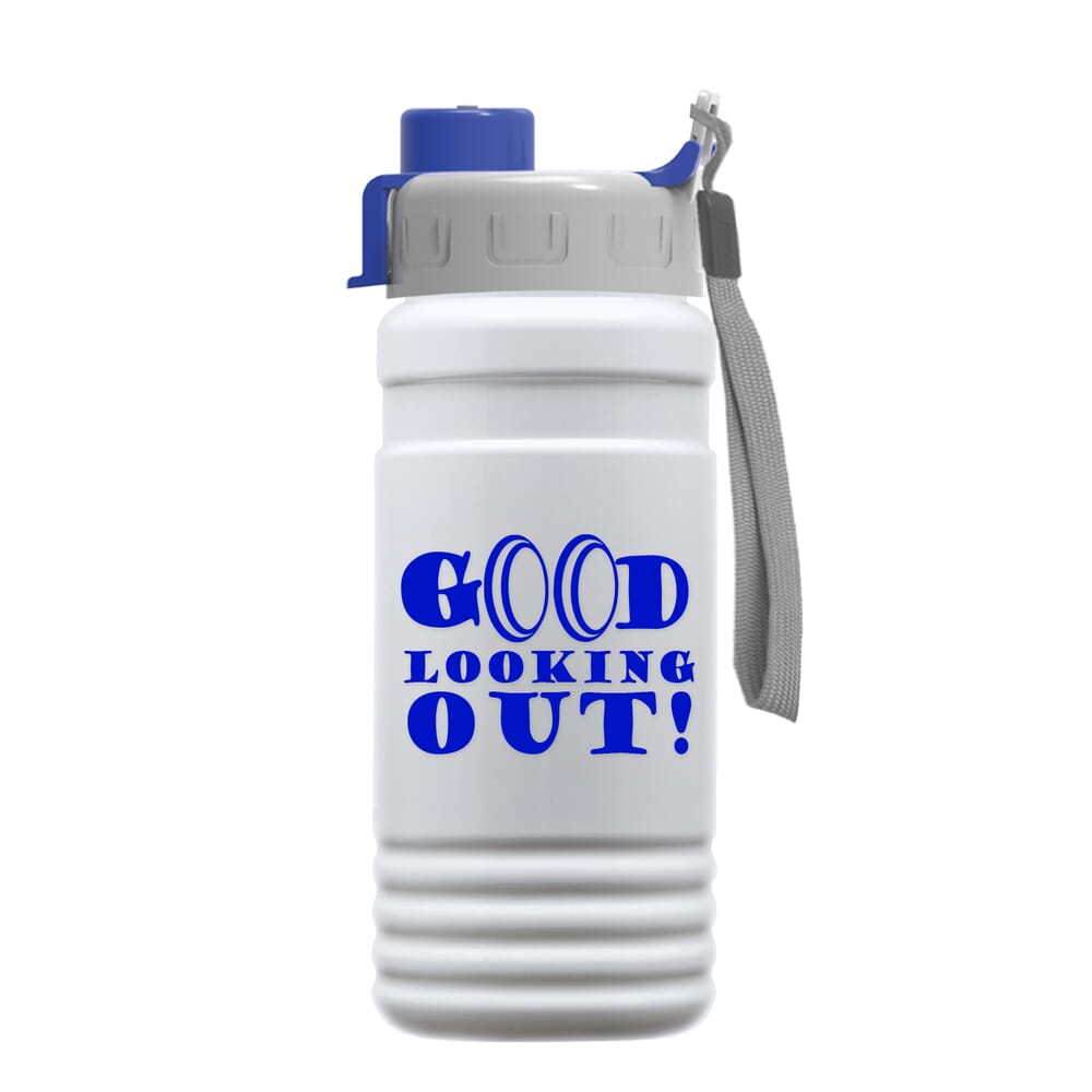 20 oz Recycled PETE Bottle With Quick Snap Lid - Promotional