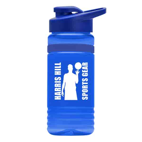 20 oz Recycled PETE Bottle With Drink Thru Lid and Silicone Band