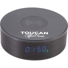 Bluetooth® Speaker Clock with Wireless Charger