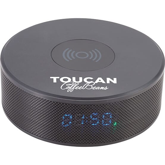 Bluetooth(R) Speaker Clock With Wireless Charger 123283