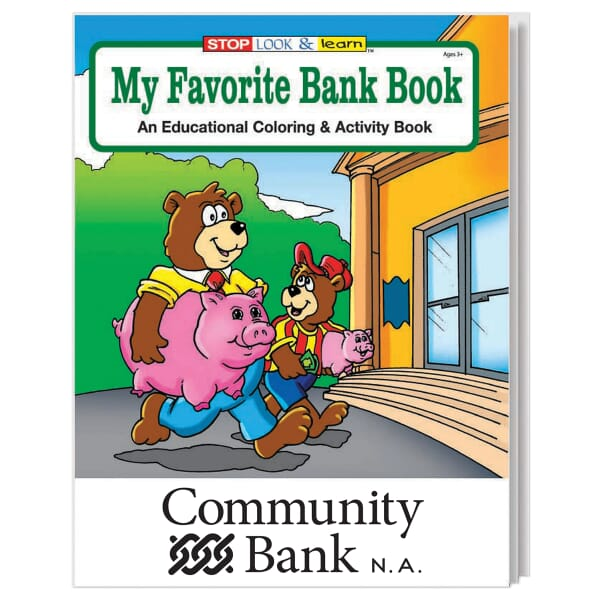 My Favorite Bank Coloring Book