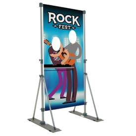 Outdoor Performer Face Cutout Display