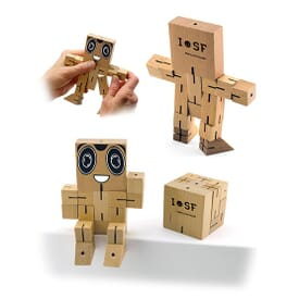 Wood Brain Teaser Puzzle Robot Cube