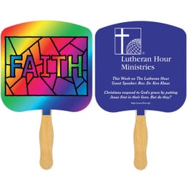 Faith Stained Glass Fan