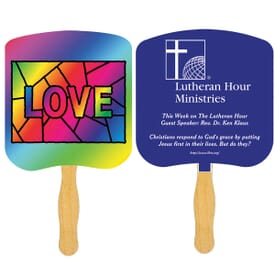 Love Stained Glass Fan