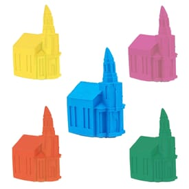 Pencil Top Stock Eraser- Church