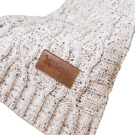 Vanilla Cookie Heather Cable Knit Chenille Blanket