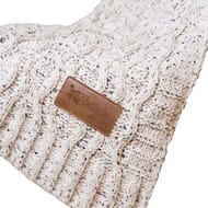 Cozy cable knit chenille blanket