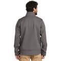 Back of jacket on model