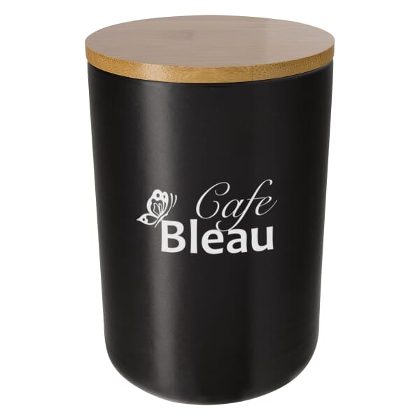 24 oz Ceramic Container With Bamboo Lid