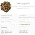 Green Mango Peach tea
