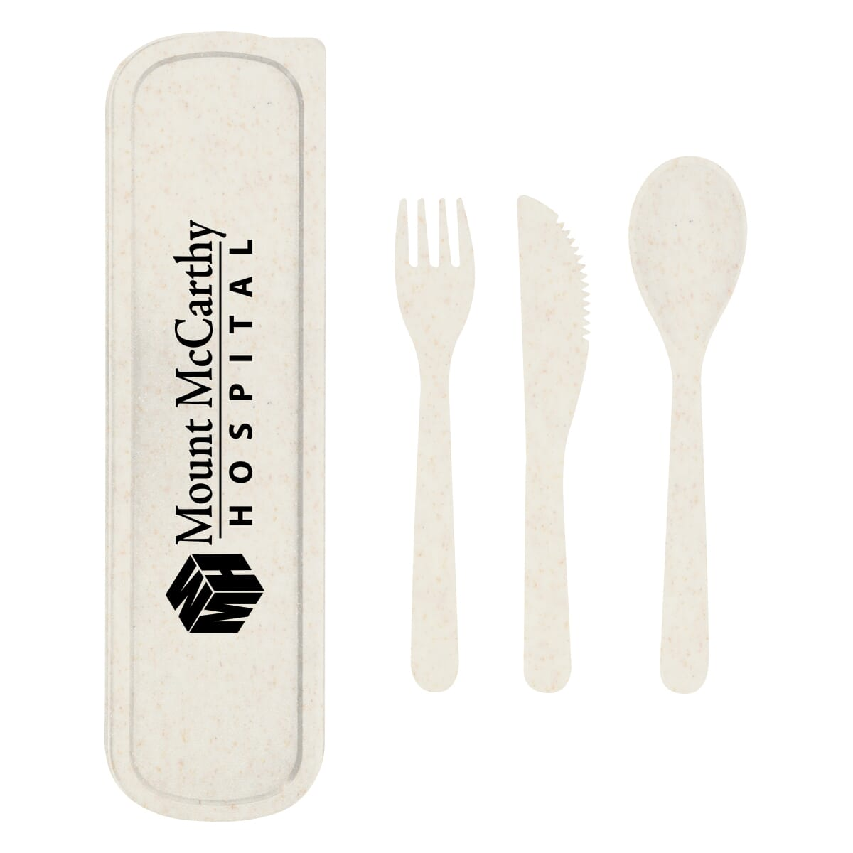 reusable utensil set made of sustainable wheat straw material