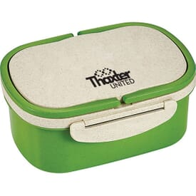 Plastic & Wheat Straw Lunch Box Container