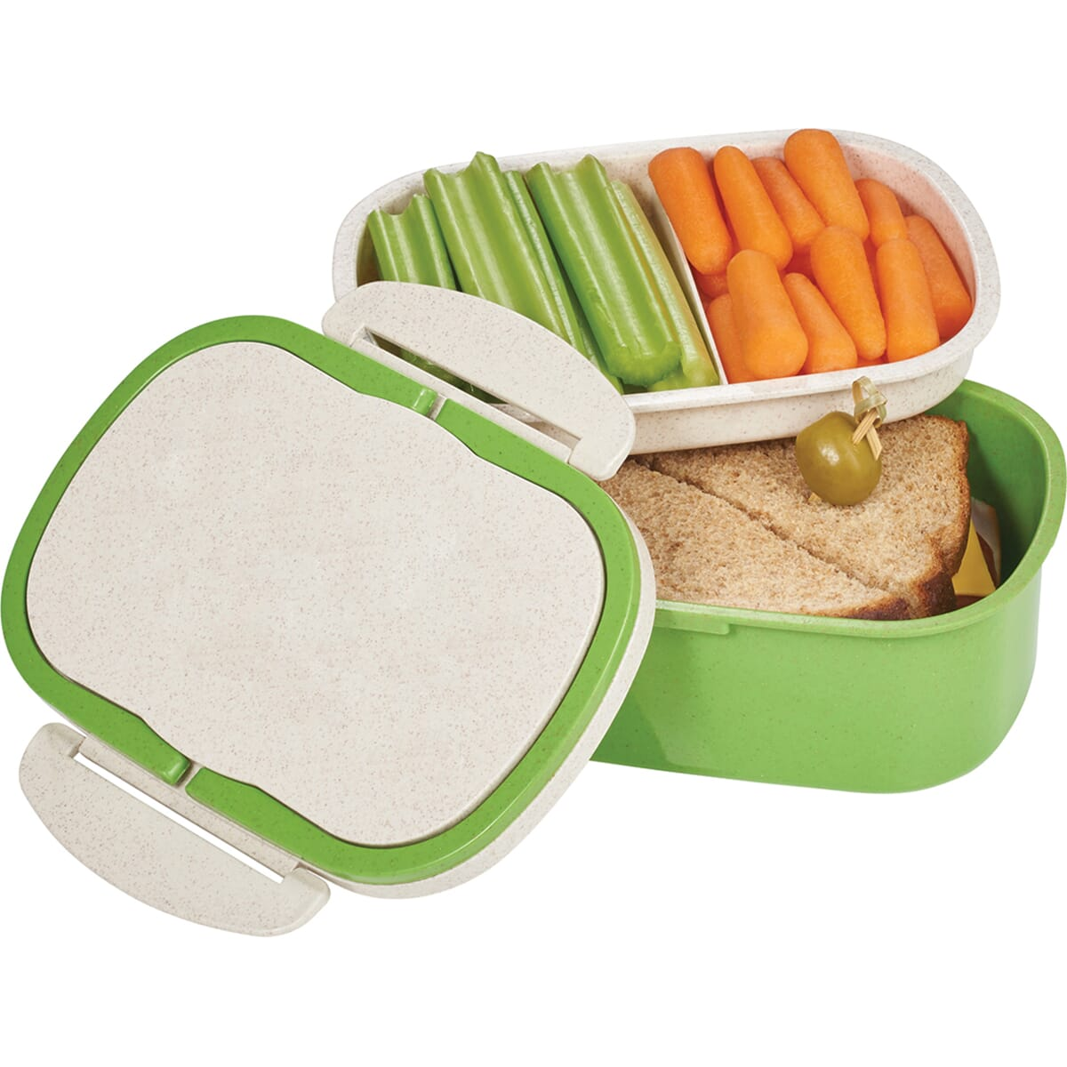 lunch container made of eco friendly wheat material