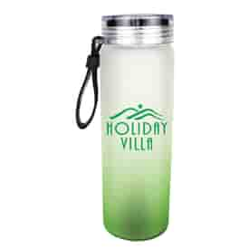 20 oz Halcyon® Frosted Glass Bottle with Screw on Lid
