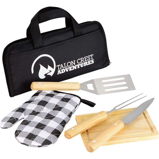5 Piece BBQ Set with Customized Travel Bag