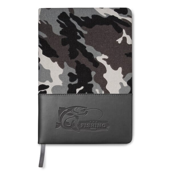 "5"" x 8"" Hard Cover Camo Canvas Journal"