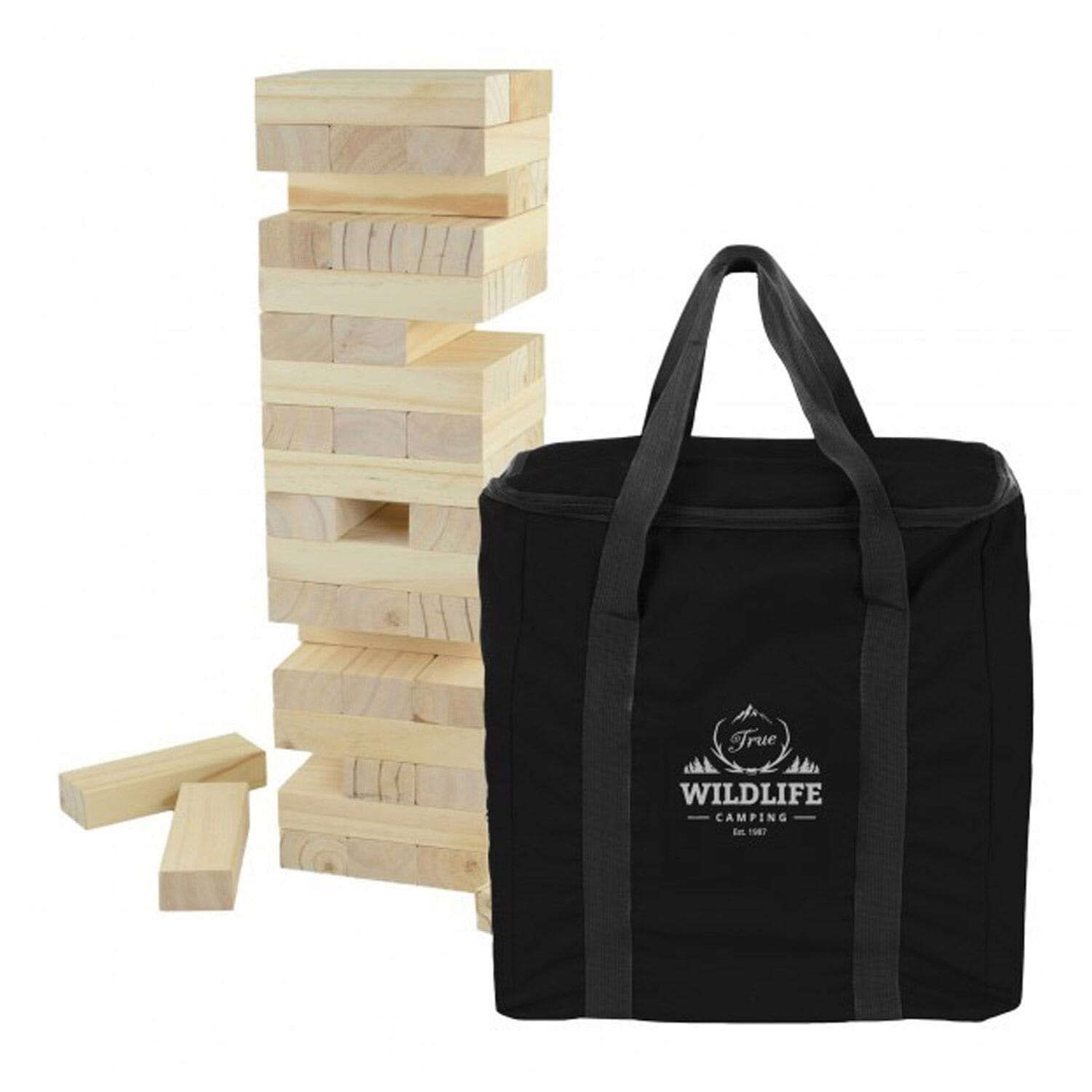 Yard wooden tumble tower game
