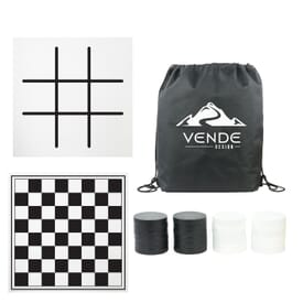 Oversized Checkers with Mat & Carrying Case