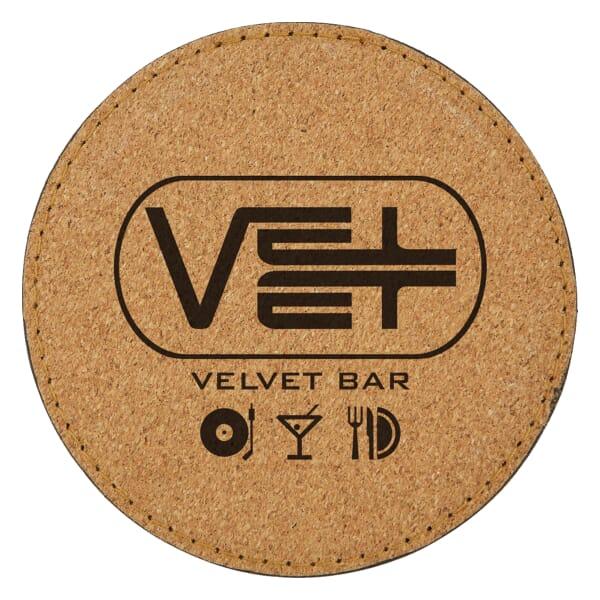 Cork and Velvet Coaster