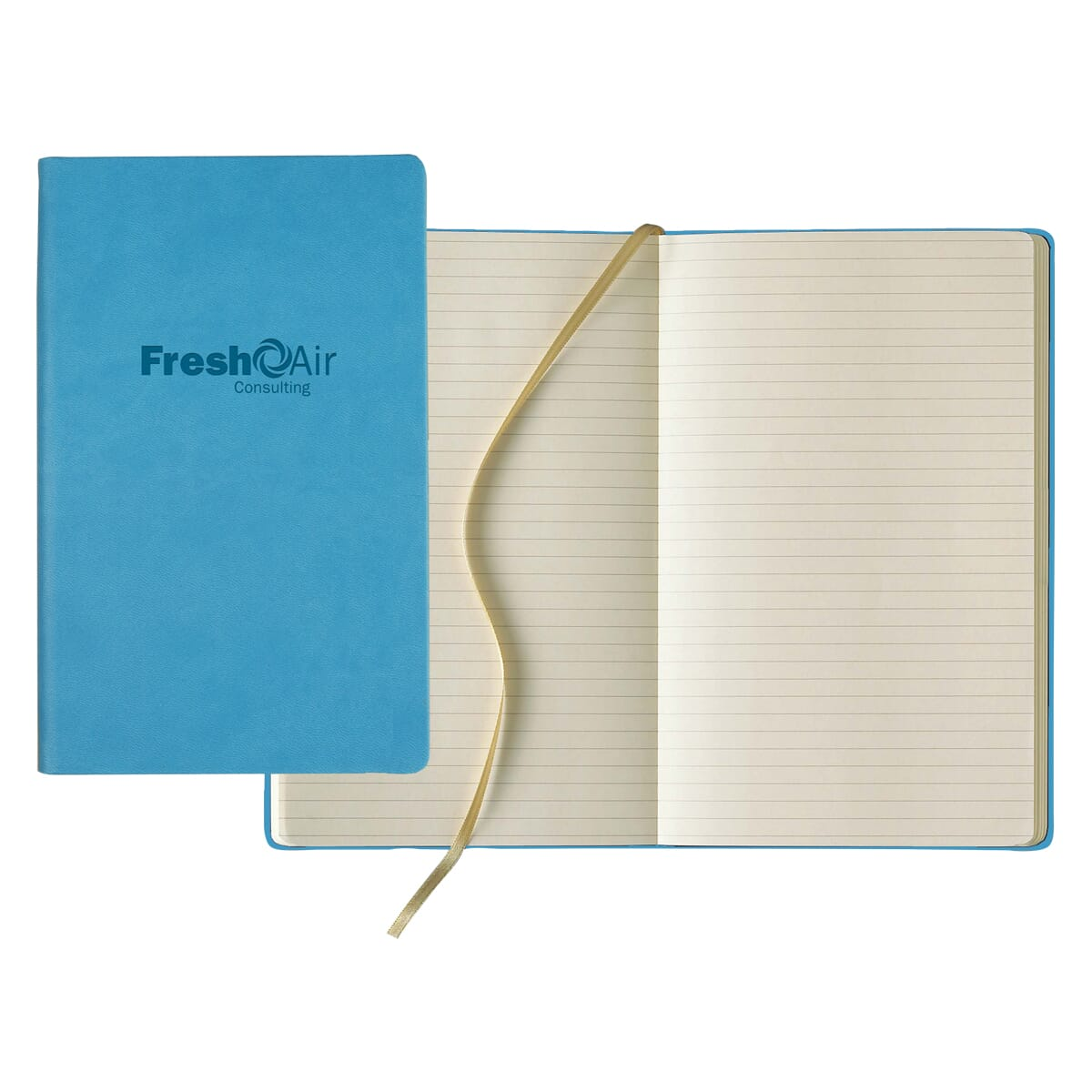 Light blue journal with ivory lined pages