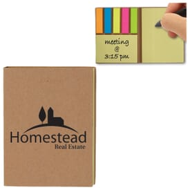 Sticky Note & Flag Set with Recycled Paper Cover