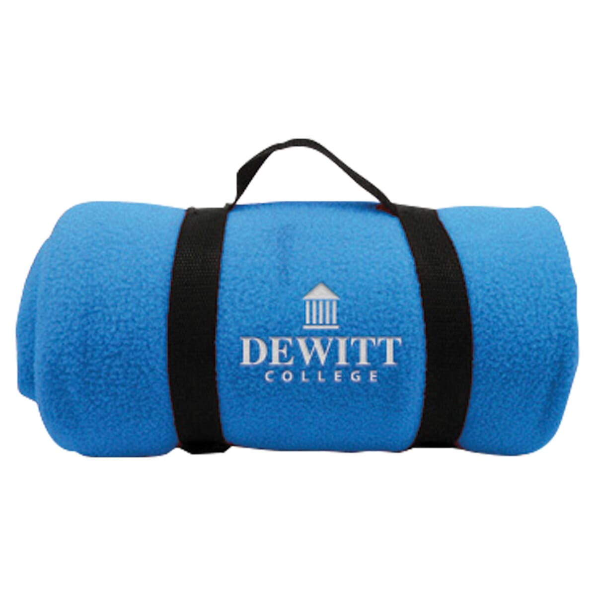 Polar fleece blanket with carrying straps