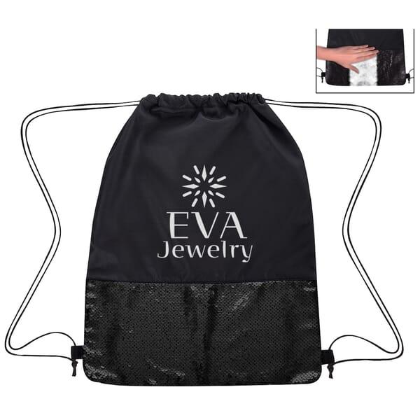 Flip Sequin Drawstring Bag