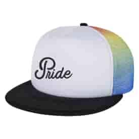 Rainbow Mesh Trucker Cap