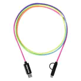 5 ft 3-in-1 Rainbow Braided Charging Cable