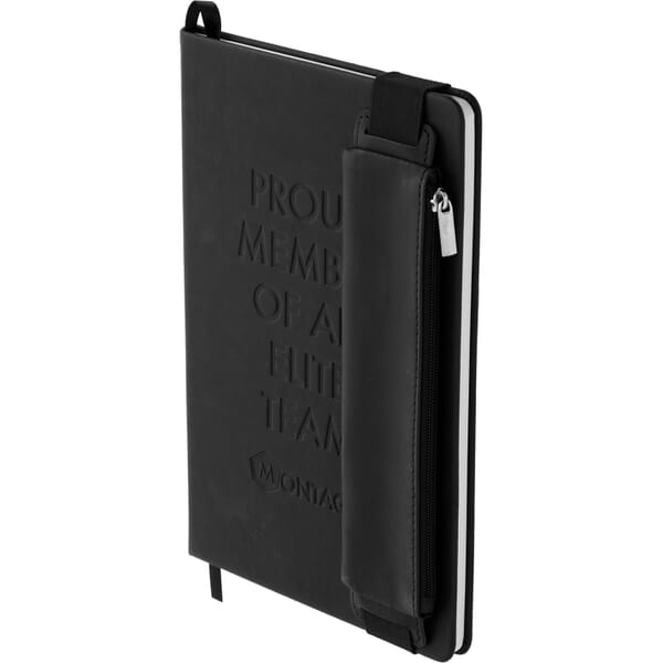 FUNCTION Hard Bound Notebook With Pen Pouch