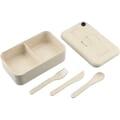 Bamboo Fiber Lunch Box with Utensil Pocket