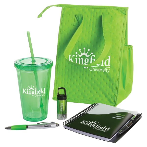 Five piece promotional gift kit