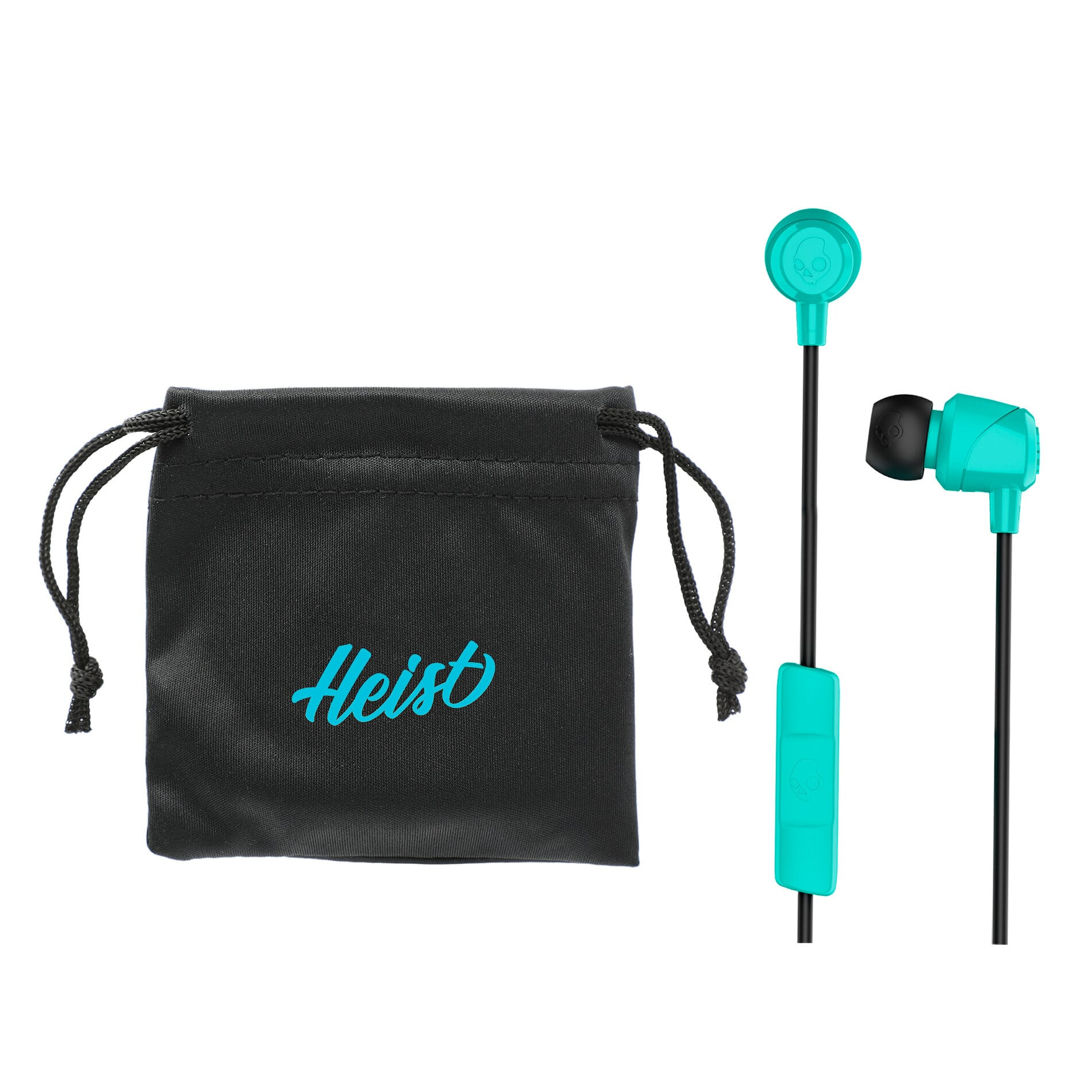 Skullcandy wireless earbuds with customized carry bag