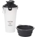 Bone Appetit Dual Pet Food Carrier with Bowls