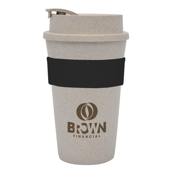 16 oz Wheat Travel Tumbler