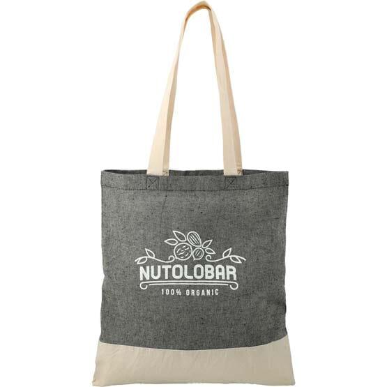 natural and gray eco friendly tote bag