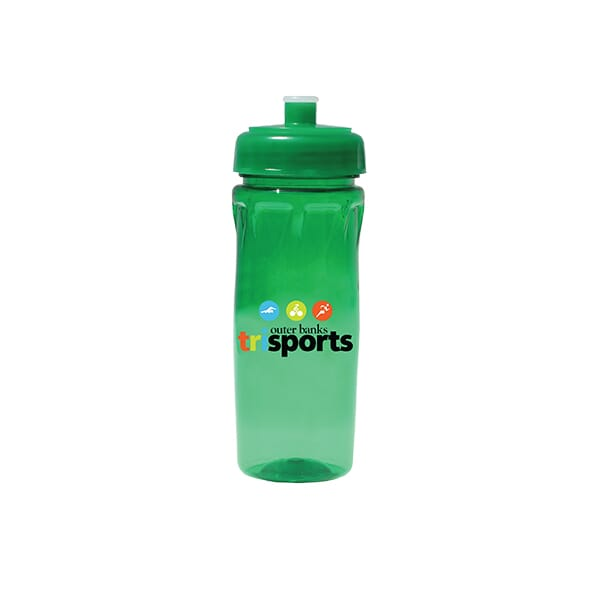 18 oz Poly-Saver PET Bottle with Push 'N Pull Cap - Full Color Digital