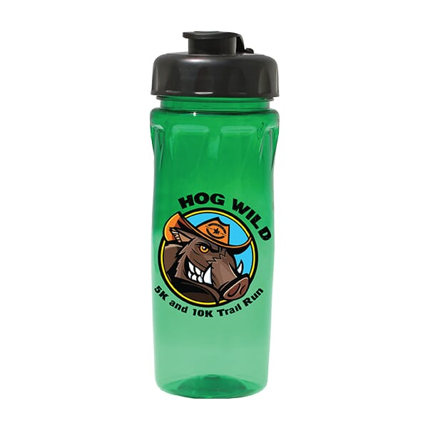 18 oz Poly-Saver PET Bottle with Flip Top Cap- Full Color Digital