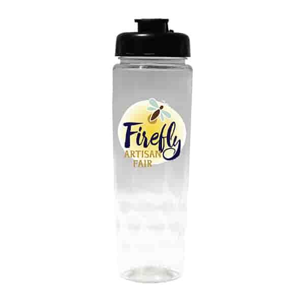 24 oz Poly-Saver PET Bottle with Flip Top Cap- Full Color Digital