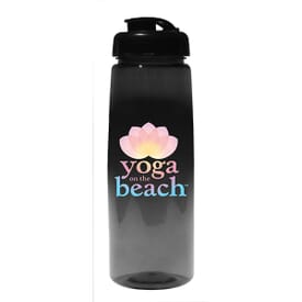 30 oz Poly-Saver PET Bottle with Flip Top Cap - Full Color Digital